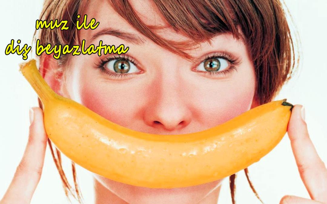 muz, muz ve kadın, muz kabuğu ile diş beyazlatma,